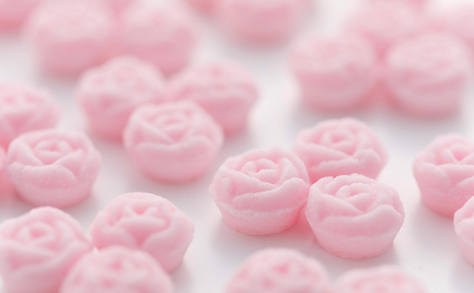 デザインシュガー,物語のある砂糖,かわいい,可愛い,角砂糖,ガーデンローズ,バラ,花の形,ピンク,棘,いばら,薔薇,優雅,ローズガーデン