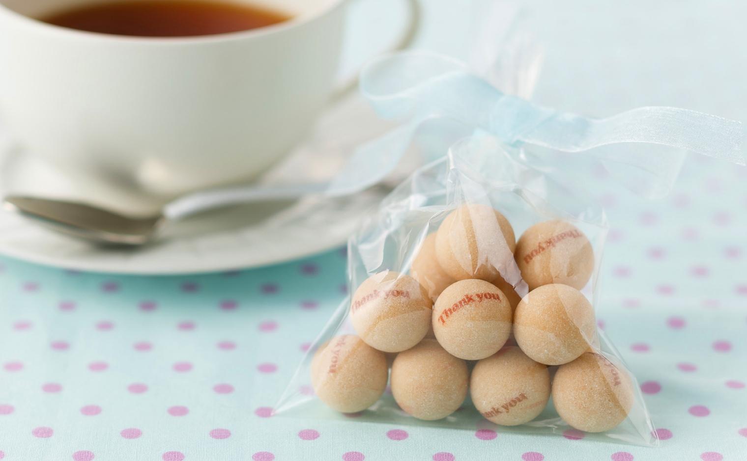 デザインシュガー,物語のある砂糖,かわいい,可愛い,角砂糖,ありがとう,球,プリント,お礼,まる,サンキュー,あいさつ