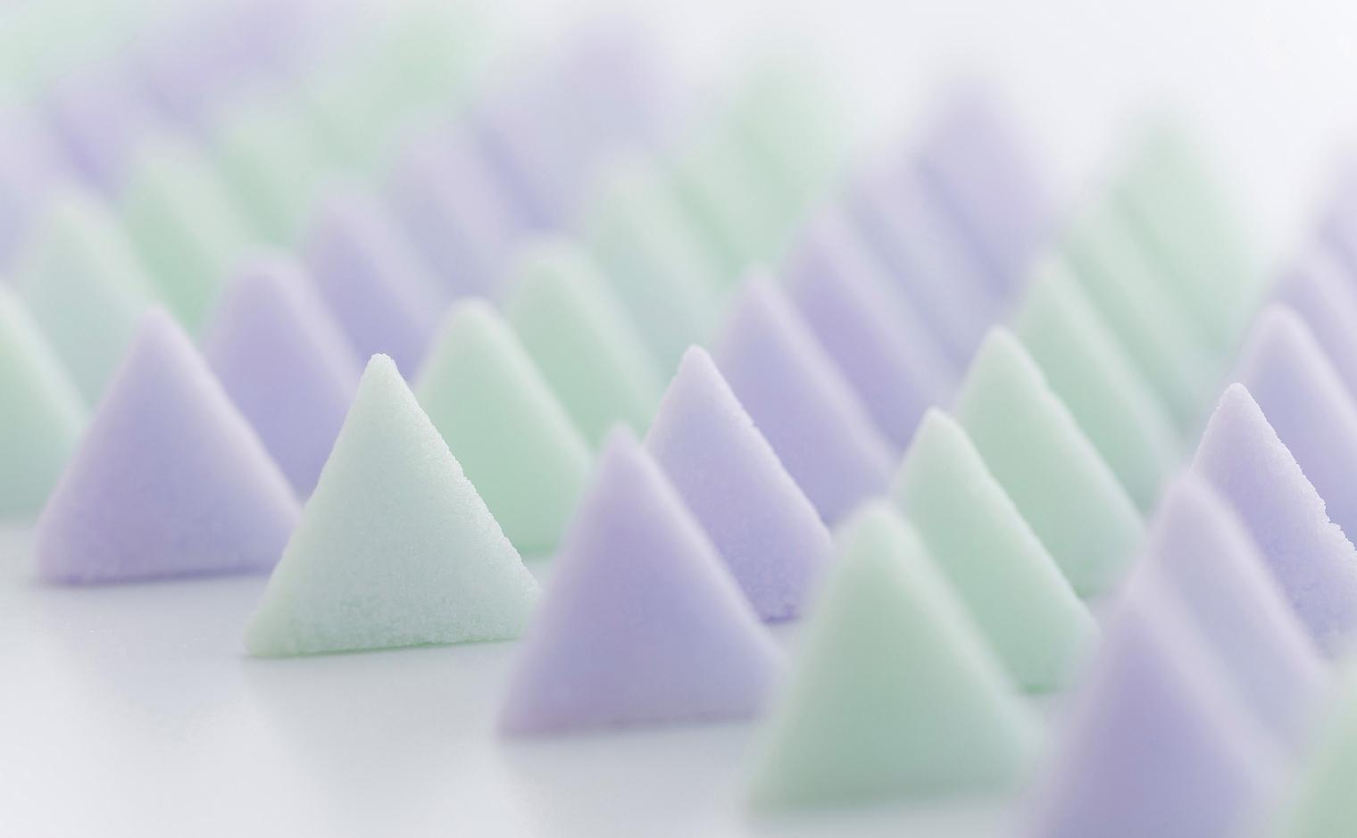 デザインシュガー,物語のある砂糖,かわいい,可愛い,角砂糖,トライアングル,三角,テトラ,トライアングル,デルタ,角