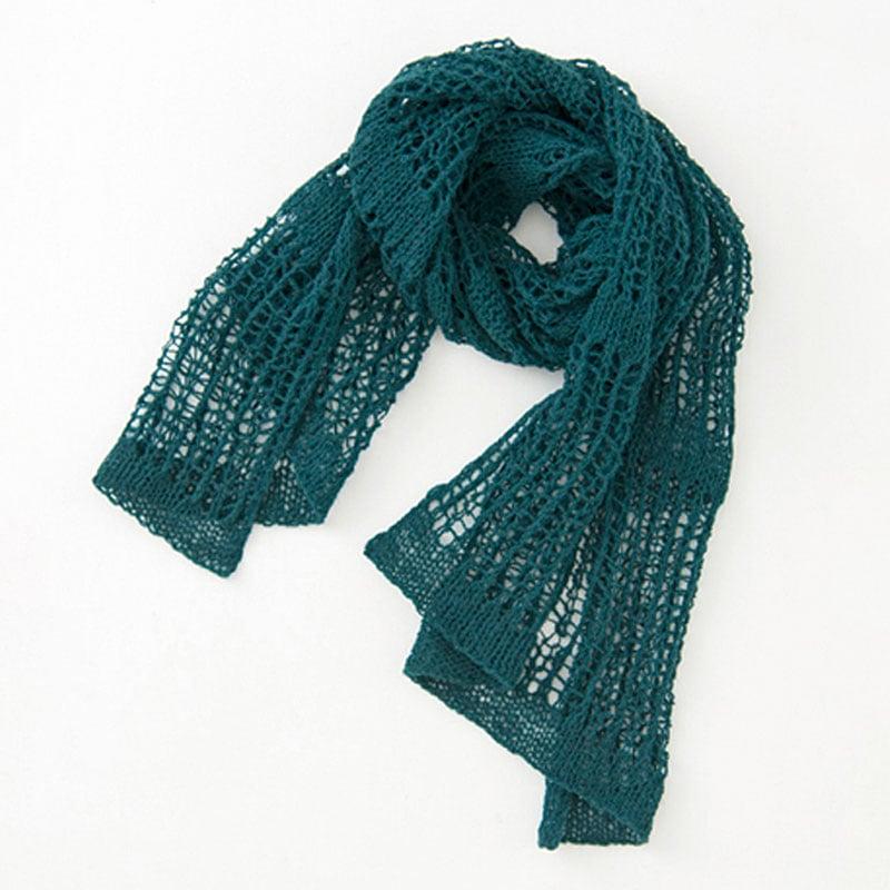 透かし編みのスカーフ