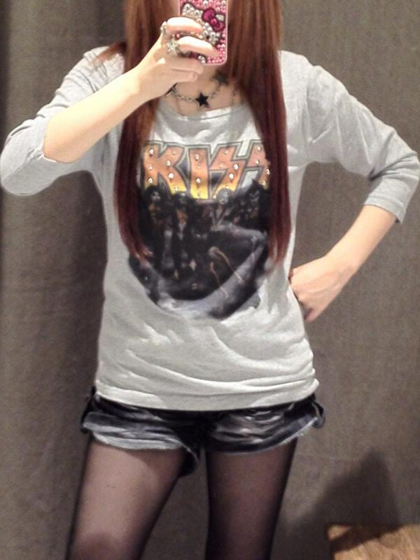 SZK★666様のKISS Tシャツ着こなし!