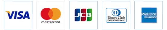 JCB / VISA / mastercard / DINERS / AMEX のロゴ画像