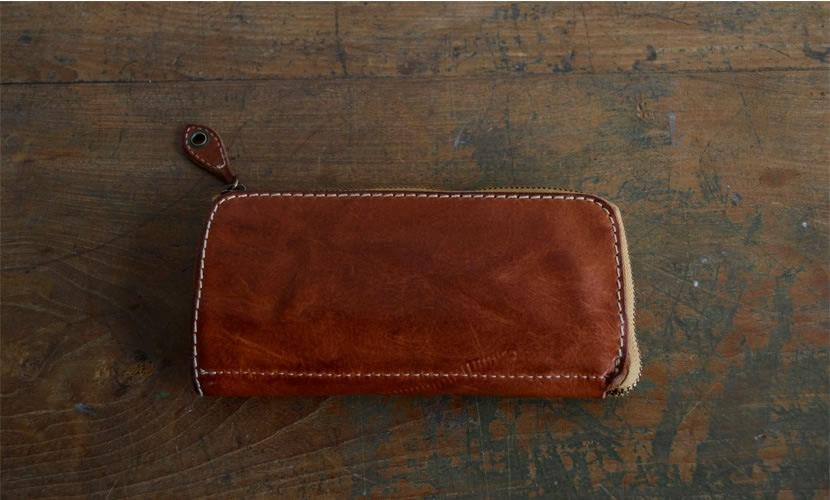 BL-PT-0016 長財布 レッドブラウン