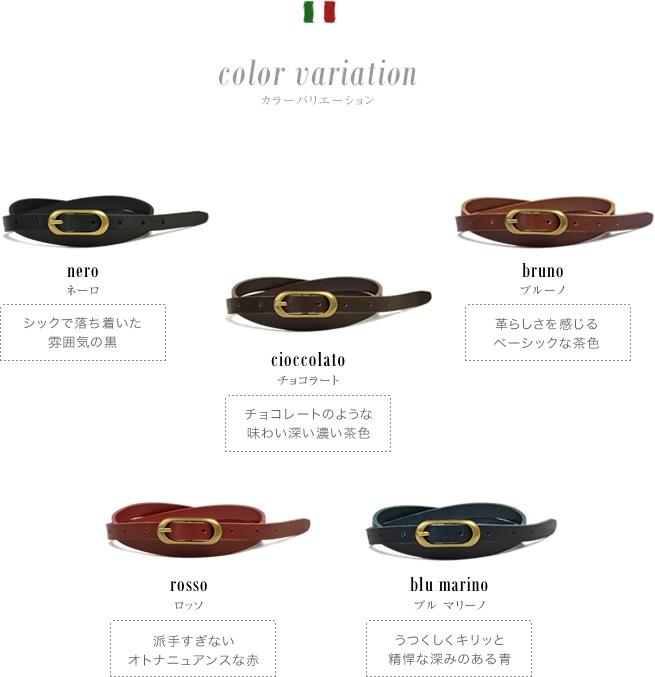 5つのカラーバリエーション