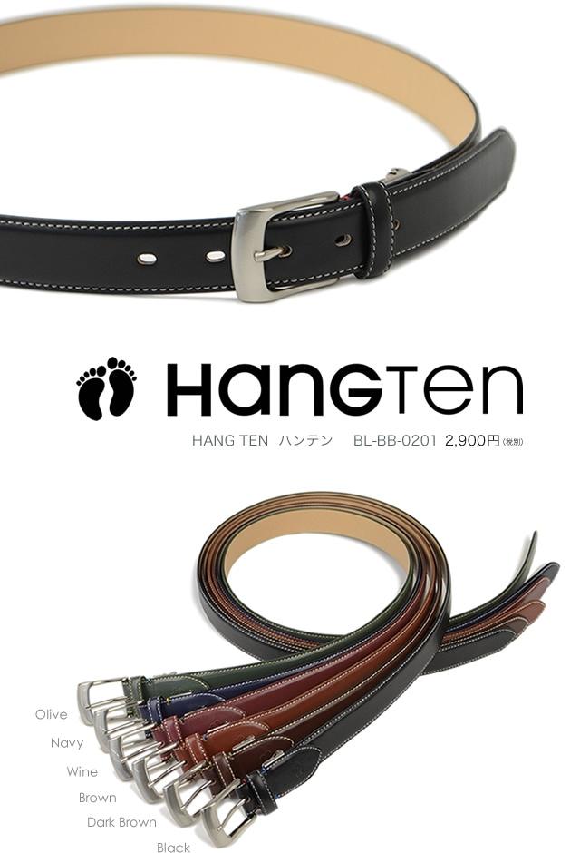 メンズ ビジネスベルト ブランド HANG TEN ハンテン