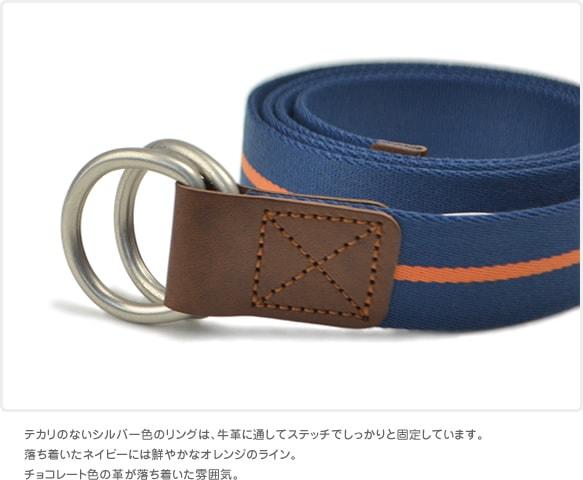 バックル替わりのリングは革でしっかりと固定
