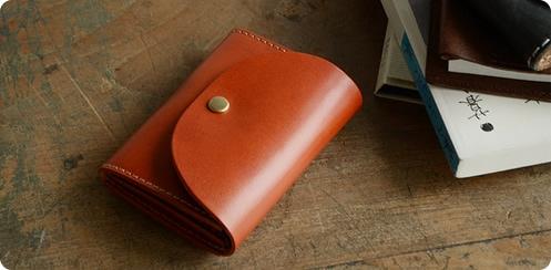 pot ポット 栃木レザーで、コンパクトなお財布