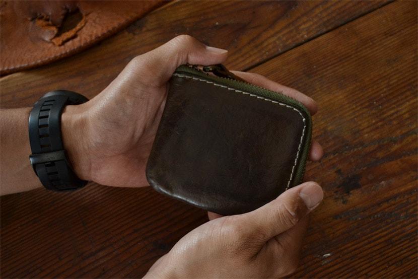BL-PT-0015 ミニ財布 オリーブ