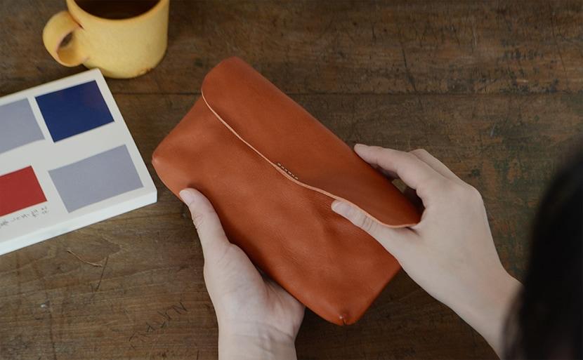 日本製の長財布