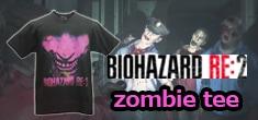 「バイオハザードRE:2」シリーズのゾンビTシャツ