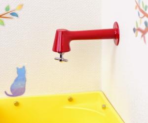 衛生水栓(レッド)