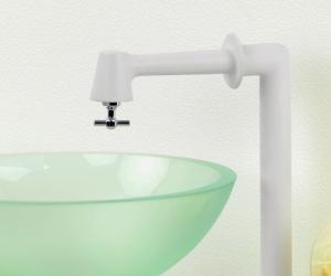 衛生水栓(ホワイト)