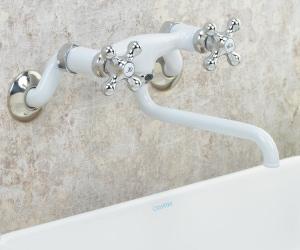 2ハンドル混合栓(ホワイト)