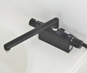 サーモスタットシャワー混合栓(デッキタイプ・ブラック)