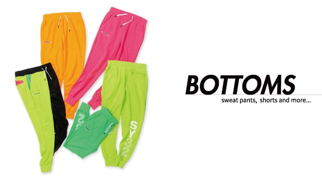 BOTTOMS  sweat pants,  shorts and more...