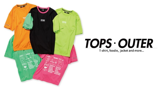 TOPS OUTER T-shirt, foodie,  jacket and more...