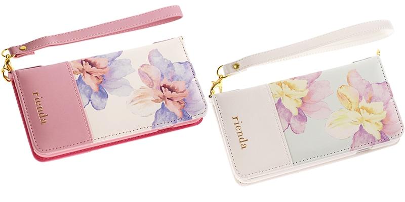 大人気のriendaの花柄手帳型スマホケース!
