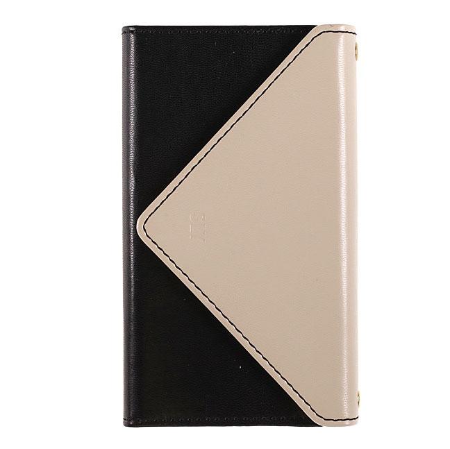 [Sweet掲載商品]iPhone 7 手帳型スマホケース SLY 3つ折り手帳 バイカラー LG&BL SLY[スライ]