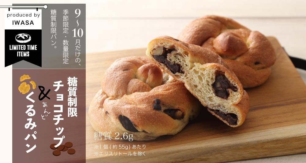 糖質制限 チョコチップ&くるみパン