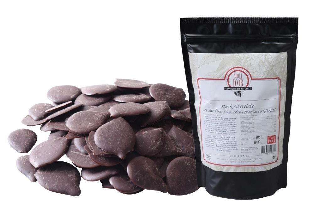 モリドル 糖質制限 ダークチョコレート・袋入り 600g ダーク