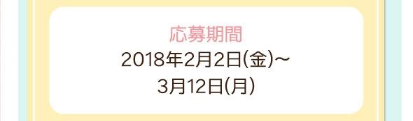 応募期間:2017年12月1日(金)〜12月20日(水)