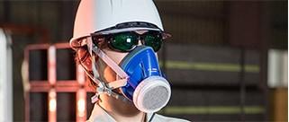 吸気補助具付き防じんマスク<国家検定合格品>