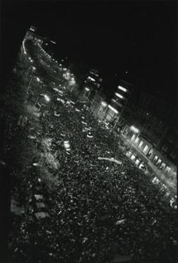 革命前夜のバーツラフ広場 プラハ 1989年