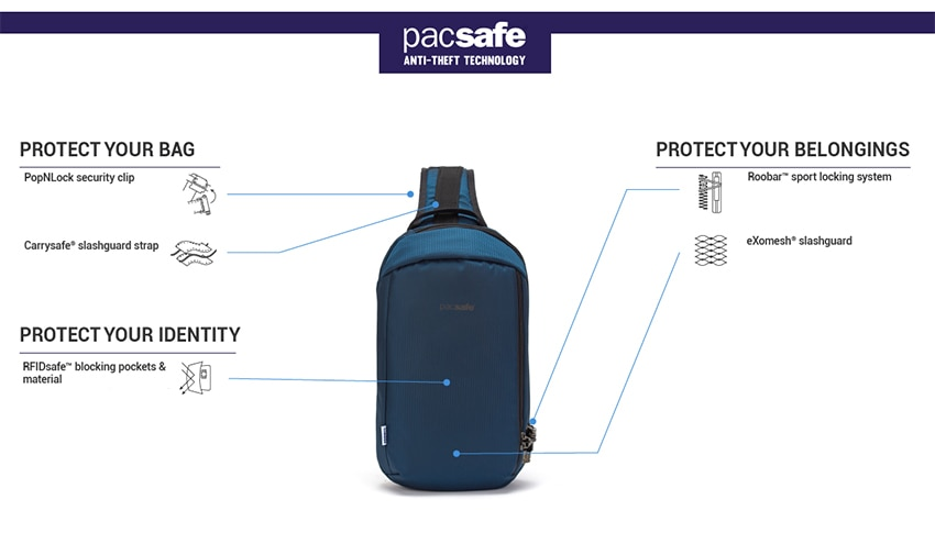PACSAFE(パックセーフ)バイブ325の特徴