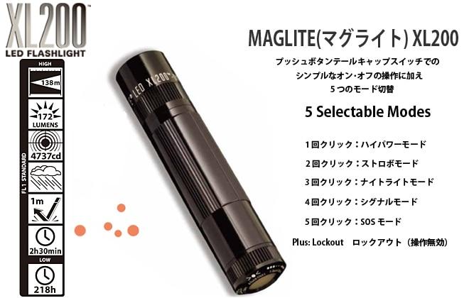 MAGLITE マグライト XL200
