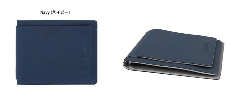 pacsafe パックセーフ RFIDセーフテック バイフォールドプラス ネイビー