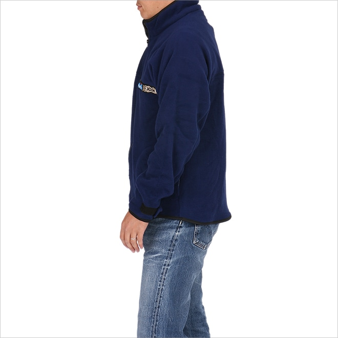 KAVU カブー フリース フルジップ スローシャツ ネイビー イメージ