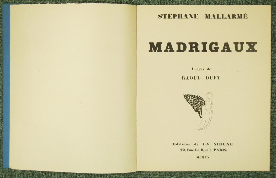デュフィ MADRIGAUX 1920