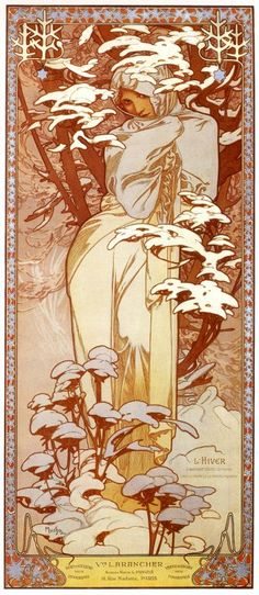 ミュシャ 四季 冬