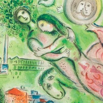 シャガール ロミオとジュリエット(部分) chagall romeo et juliette