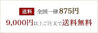 送料全国一律875円、9,000円以上ご購入で送料無料