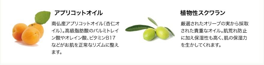 アプリコットオイル/植物性スクワラン