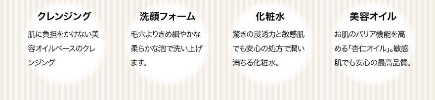 クレンジングオイル/洗顔フォーム/化粧水/美容オイル