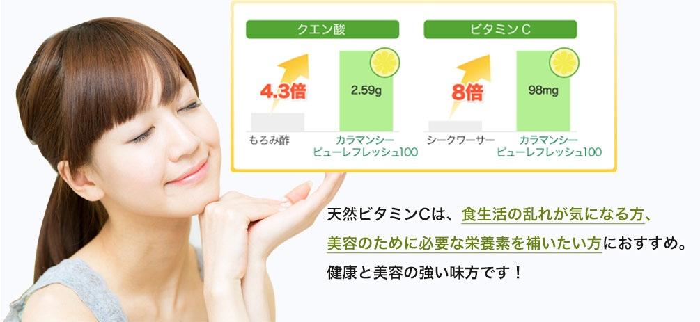 天然ビタミンCは、食生活の乱れが気になる方、お肌の調子が悪いと感じる方におすすめ。]健康と美容の強い味方です!