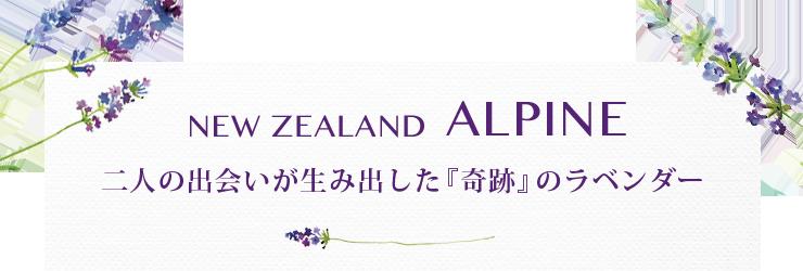 NEWZEALANDALPINE アルパインが生んだ世界に一つだけのトゥルーラベンダー