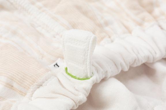 薄いパシーマパジャマの特徴 ウエストゴム 特許 良く伸び折れにくい