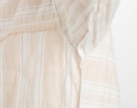 薄いパシーマパジャマの特徴 裏面 縫い代なし 凹凸無し 痒み軽減