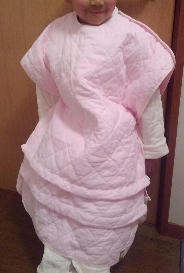 丈の調節可能スリーパー(着る布団)パシーマでオーダーお子様のお写真