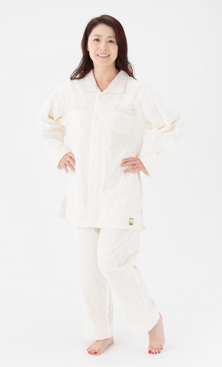 長袖、長パンツ パシーマパジャマ 薄いパシーマ生地 アトピーやアレルギー敏感肌