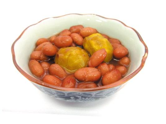 [写真]栗入り金時豆のふっくら煮