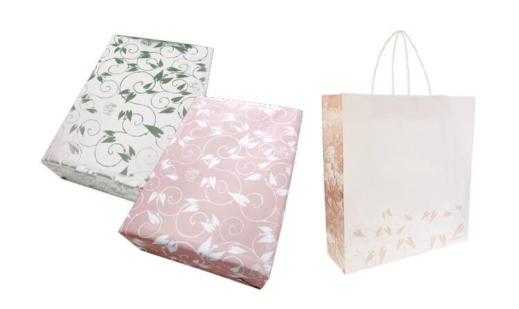 包装紙・紙袋対応