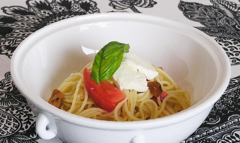 きびの麺でつくる冷製イタリアンパスタ