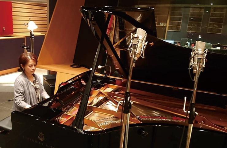 後藤幸子さんレコーディング風景。Sony Music Studios Tokyoにて