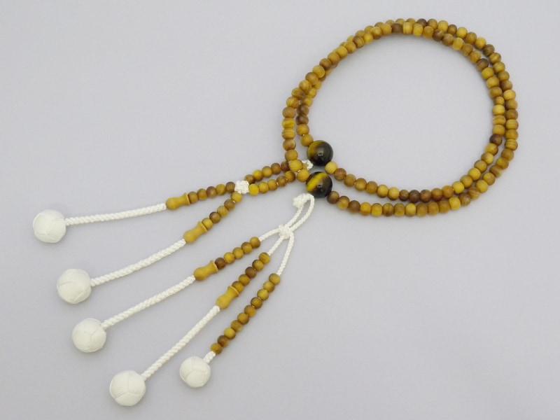 インドネシア産白檀×虎目石仕立の商品画像1