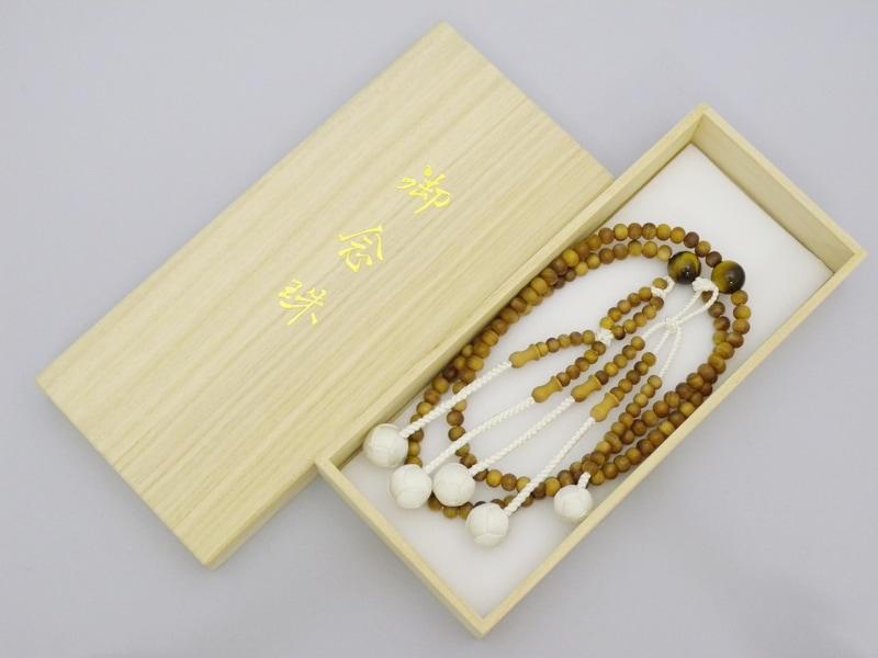 インドネシア産白檀×虎目石仕立の商品画像3