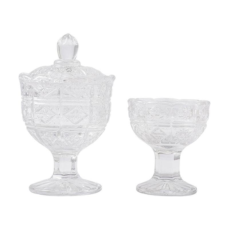 ボヘミアン クリスタル仏茶器セット